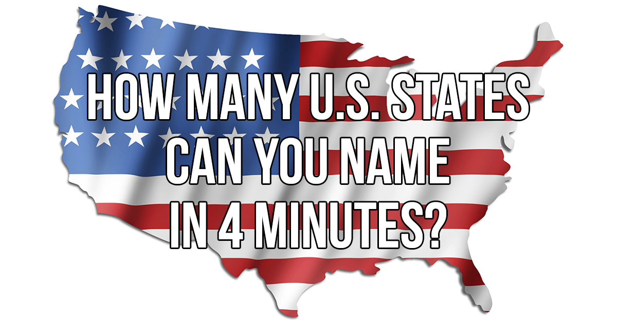 Can You Name Every US State In Four Minutes - United states map with abbreviations and names